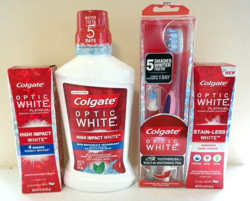 Colgate Optic White Oral Care Products