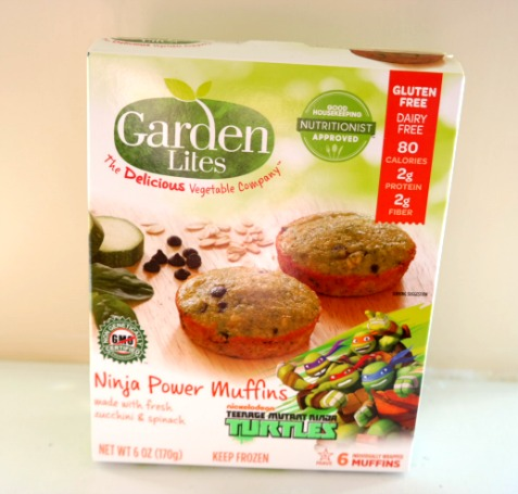 Garden Lites Ninja Power Muffins Made with Fresh Zucchini & Spinach