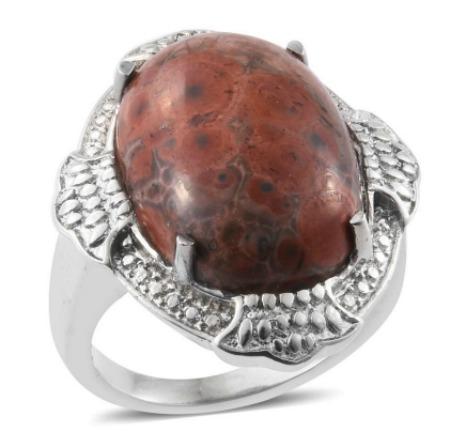 Poppy Jasper Women's Ring