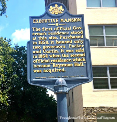 Executive Mansion Historical Marker in Harrisburg Pennsylvania