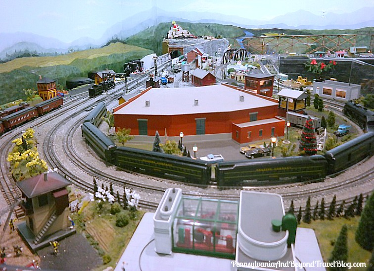 Model Train Display at The Antique Automobile Club of America AACA Museum in Hershey Pennsylvania