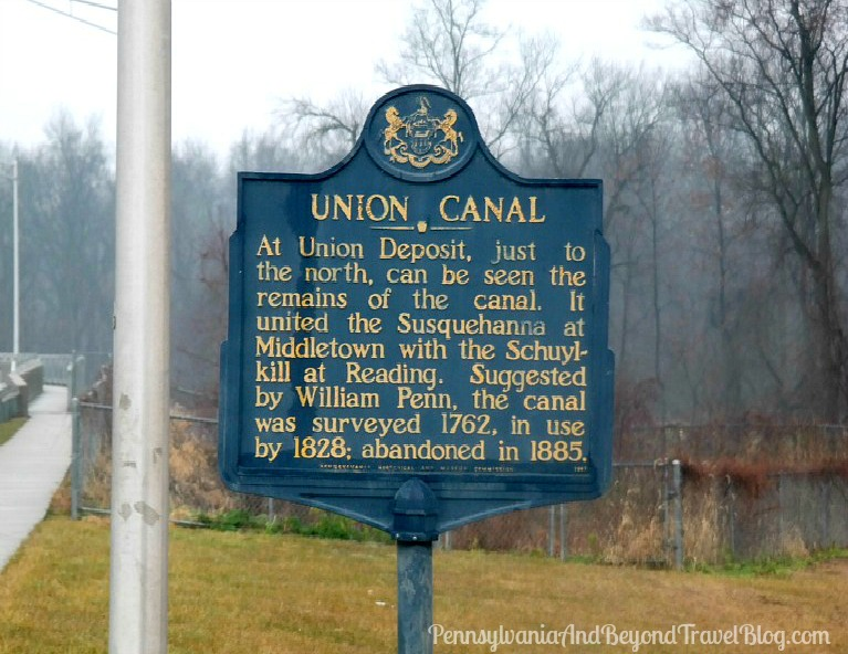 Union Canal Historical Marker in Hershey, Dauphin County, Pennsylvania