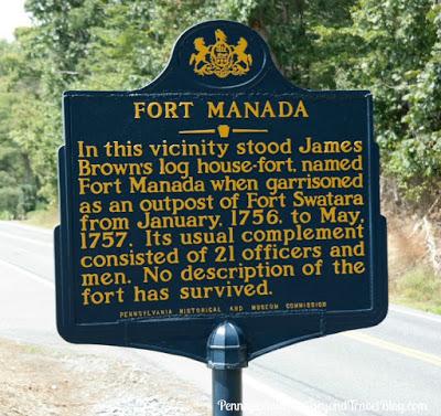Fort Manada Historical Marker Grantville Pennsylvania