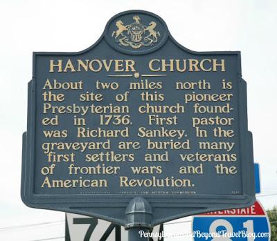 Hanover Church Historical Marker Grantville Pennsylvania